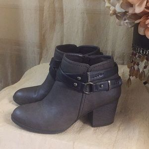 Hot tomato brown ankle booties sz 7.5